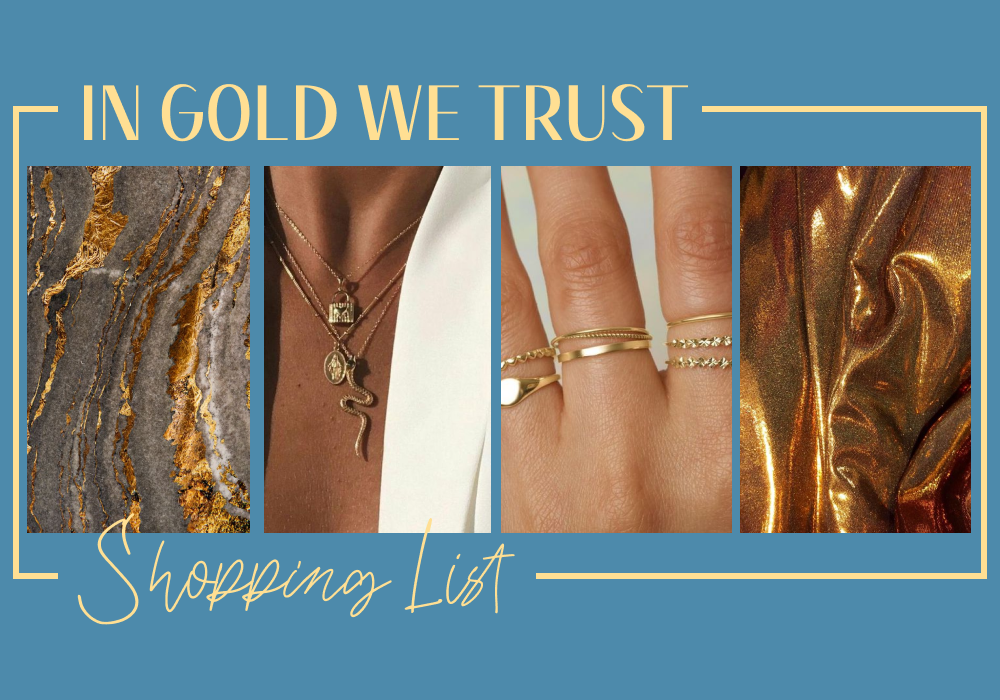 #Shopping List in gold we trust