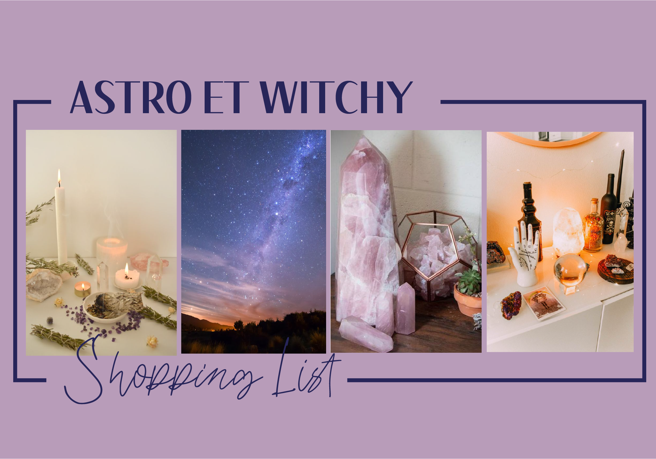 Shopping List astro & witchy