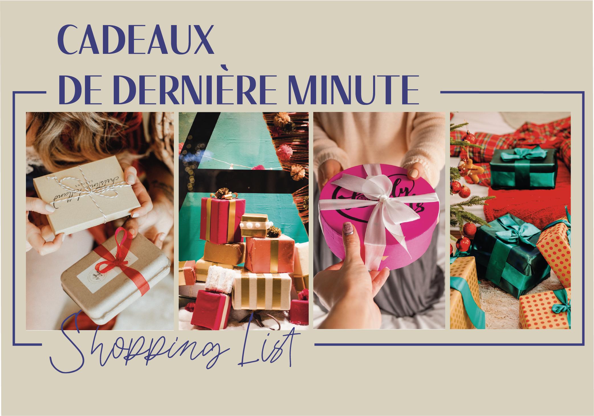 #Shopping List idées cadeaux de dernière minute