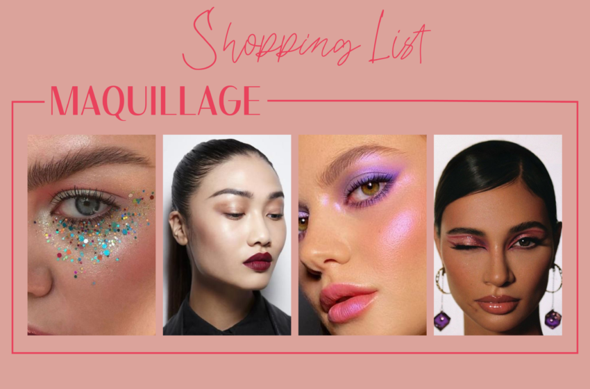 Shopping list maquillage