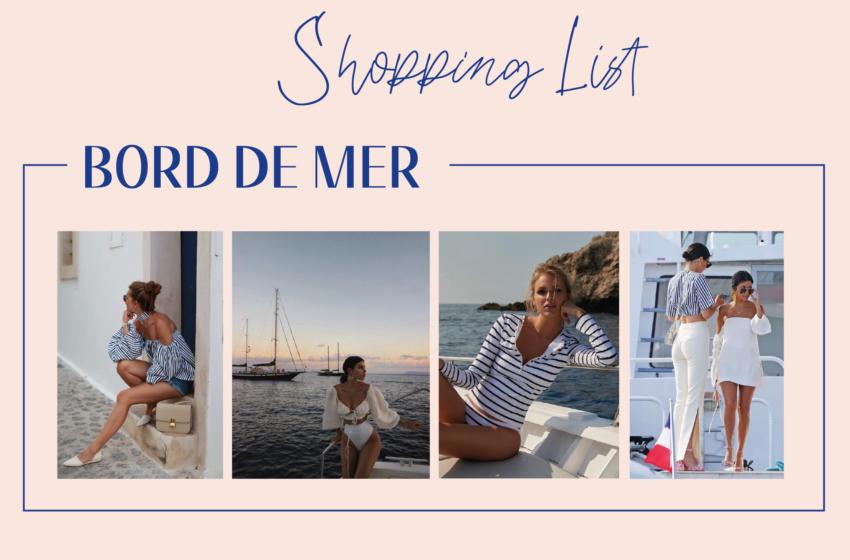 Shopping list inspiration bord de mer