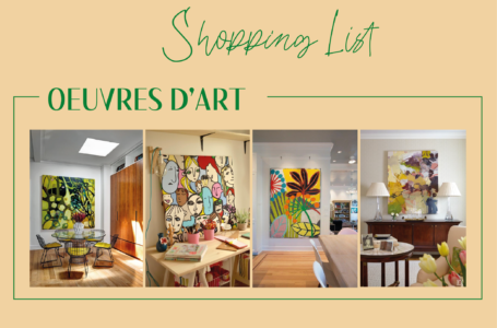 Shopping list oeuvres d'art